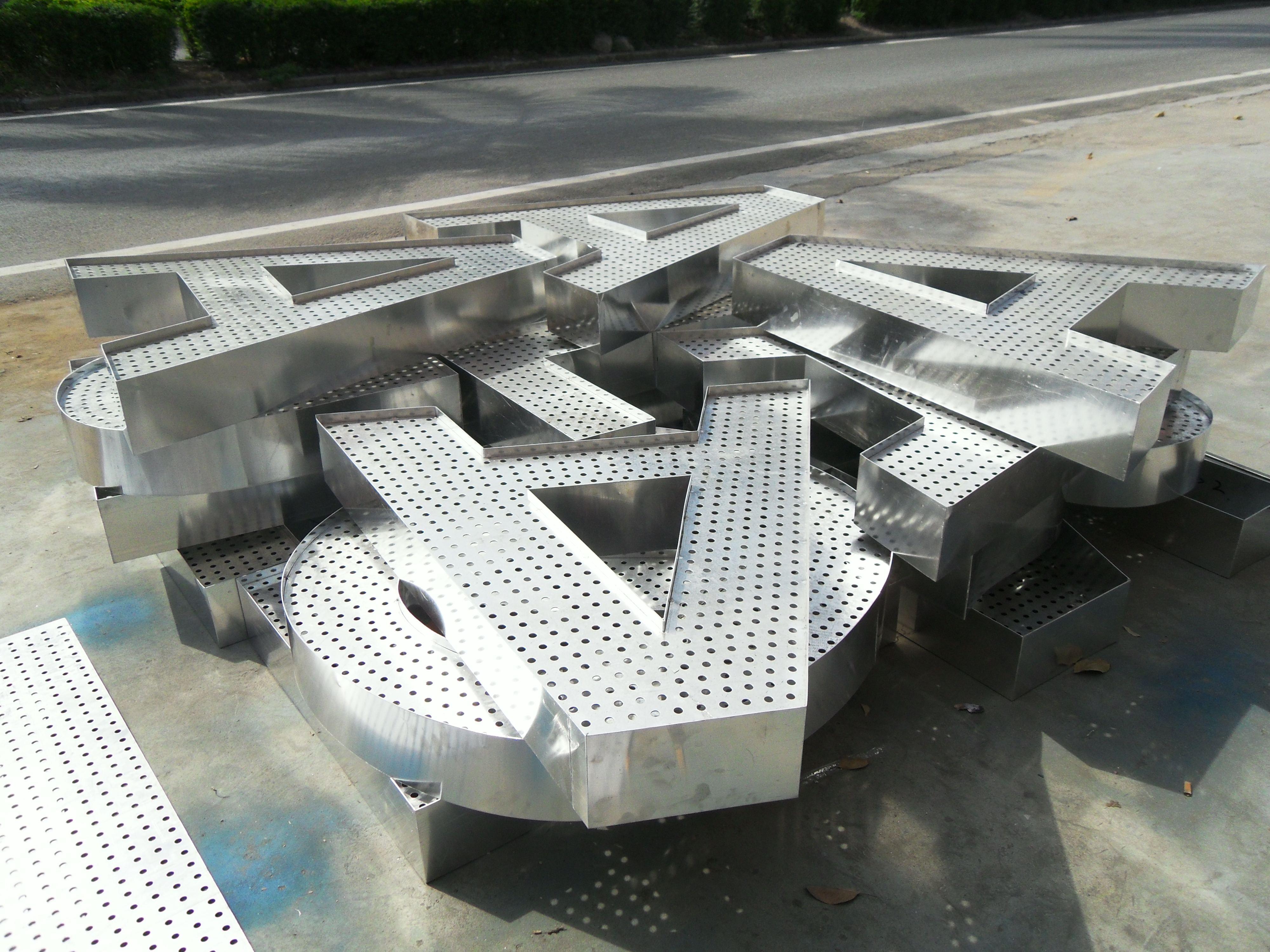 西安铝板外漏发光字